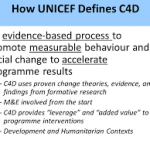 Consultation on C4D Monitoring and Evaluation Resourcing (2010)